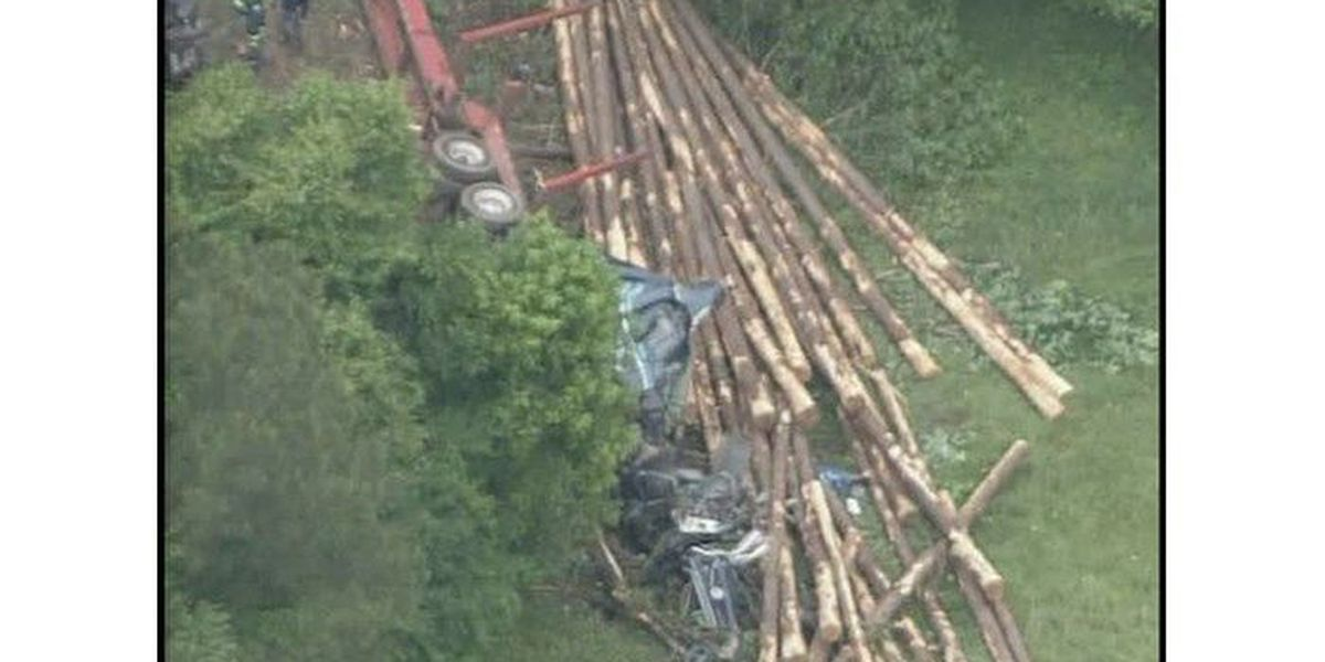 Troopers ID man killed in logging truck crash in Chester County