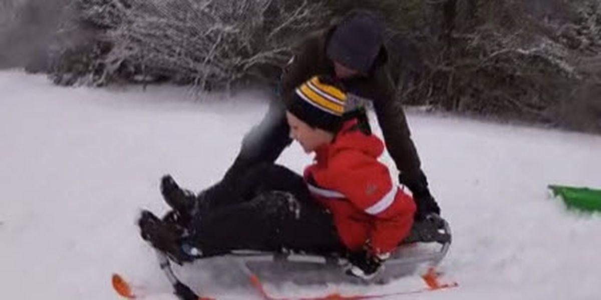 Families enjoy winter wonderland in Blowing Rock