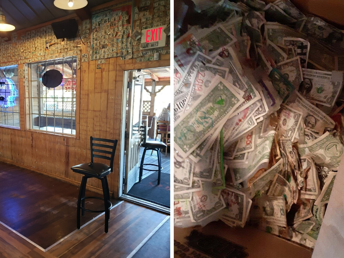 This is Carolina: Hamburger Joe's empties its walls of dollar bills to give to employees