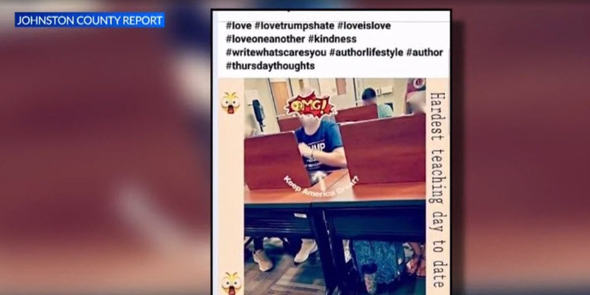 NC college professor posts photo appearing to mock student supporting Trump