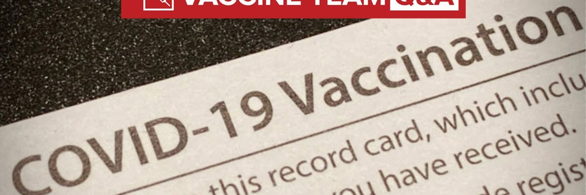 VACCINE TEAM: Can I laminate my vaccine card to keep it safe?