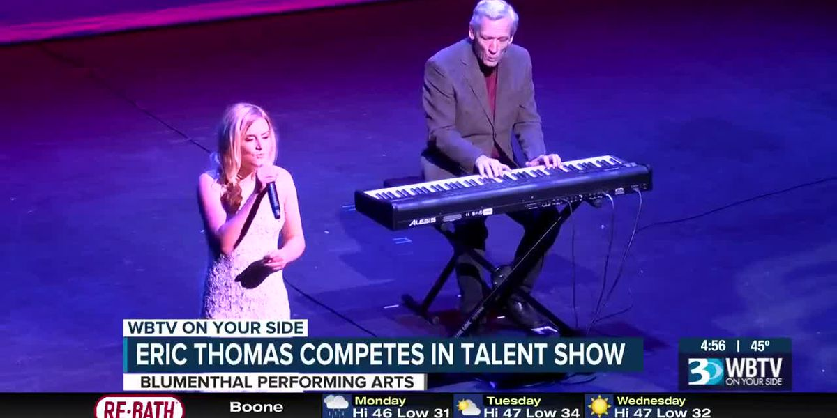 Eric Thomas competes in talent show