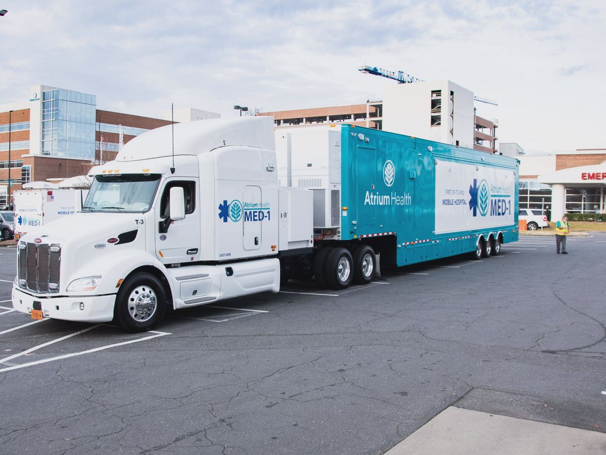Atrium Health deploys mobile hospital to Pineville location