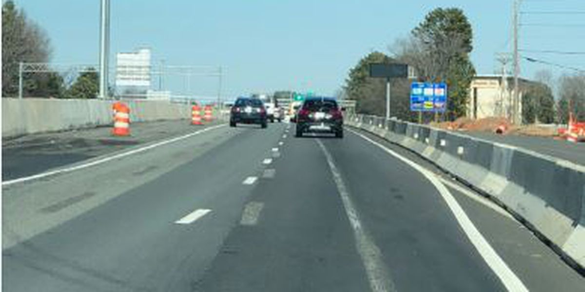 Crews will work Friday night to fix 'ghost lanes' on I-77