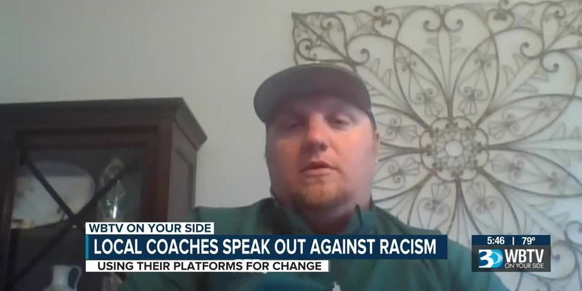 Local high school football coach Zach Bevilacqua speaks out against racism