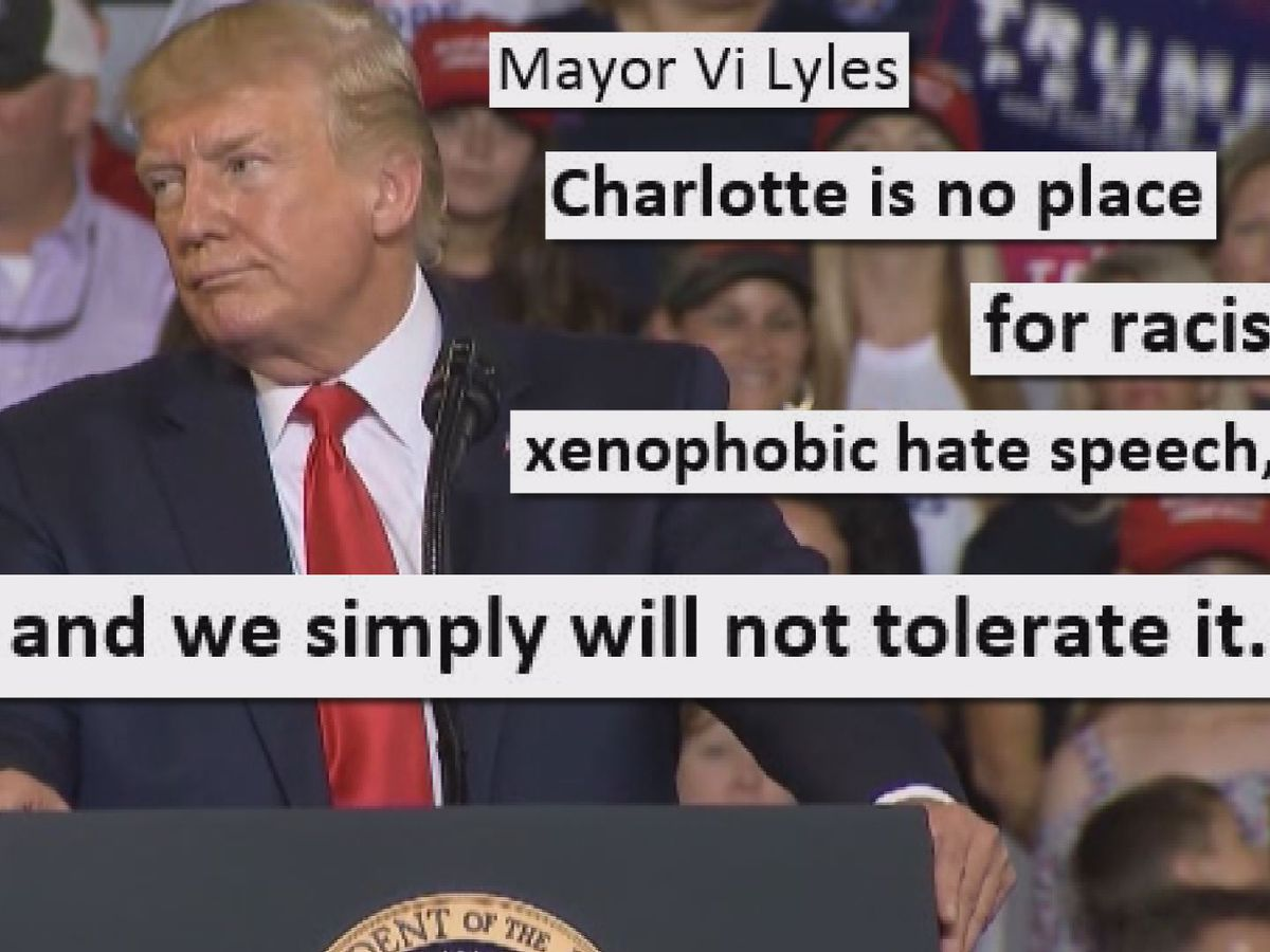 Mayor Lyles: Charlotte won't 'tolerate' Trump rally 'send her back' chants at RNC 2020