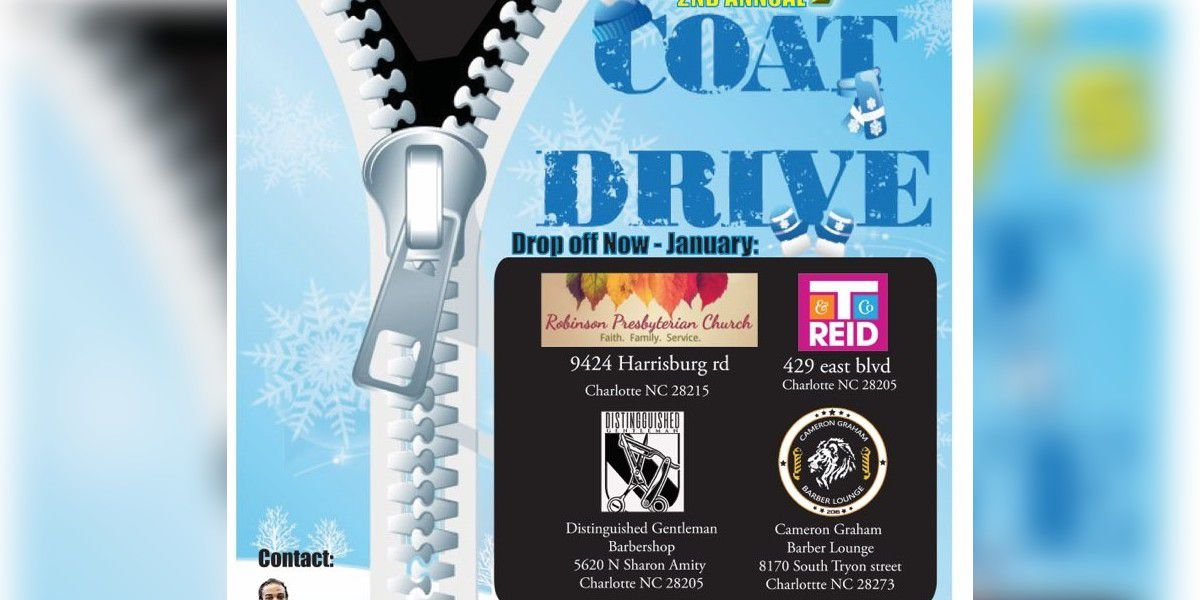 Barber hosting coat drives at several locations in Charlotte