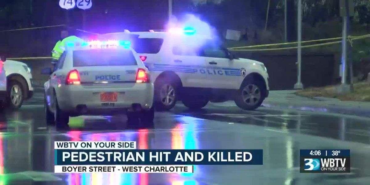 Pedestrian struck and killed in west Charlotte