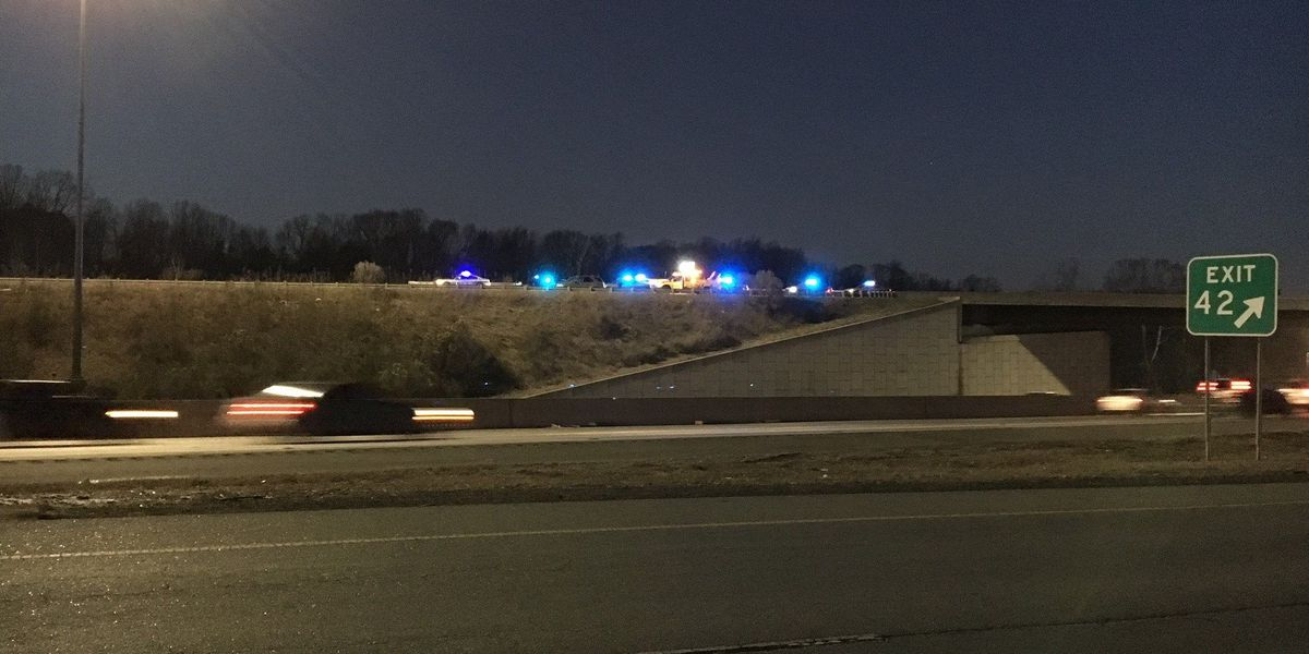 Woman struck by van while crossing I-85