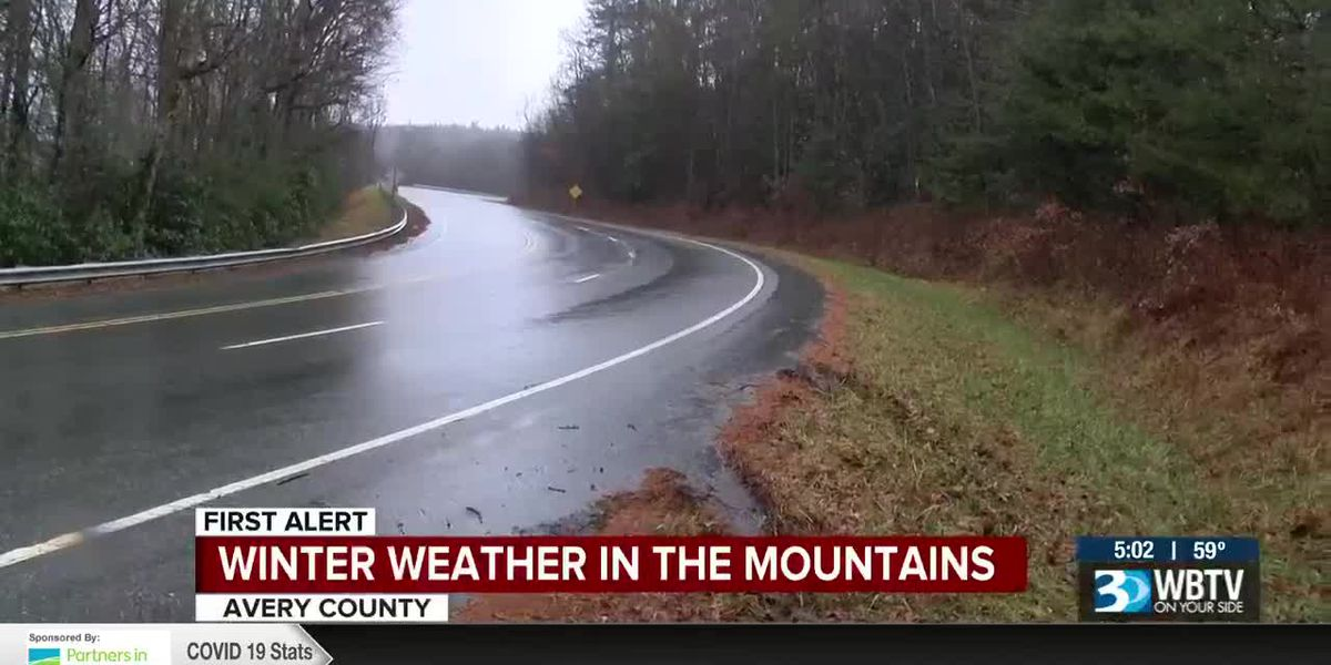 Rainy, windy, day in N.C. mountains, white Christmas next