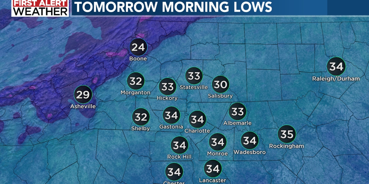 First Alert tonight: Coldest air of the season with frost and freeze issues