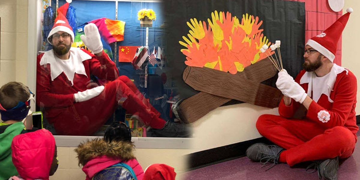 N.C. principal spreads holiday cheer as school's real-life 'Elf on the Shelf'