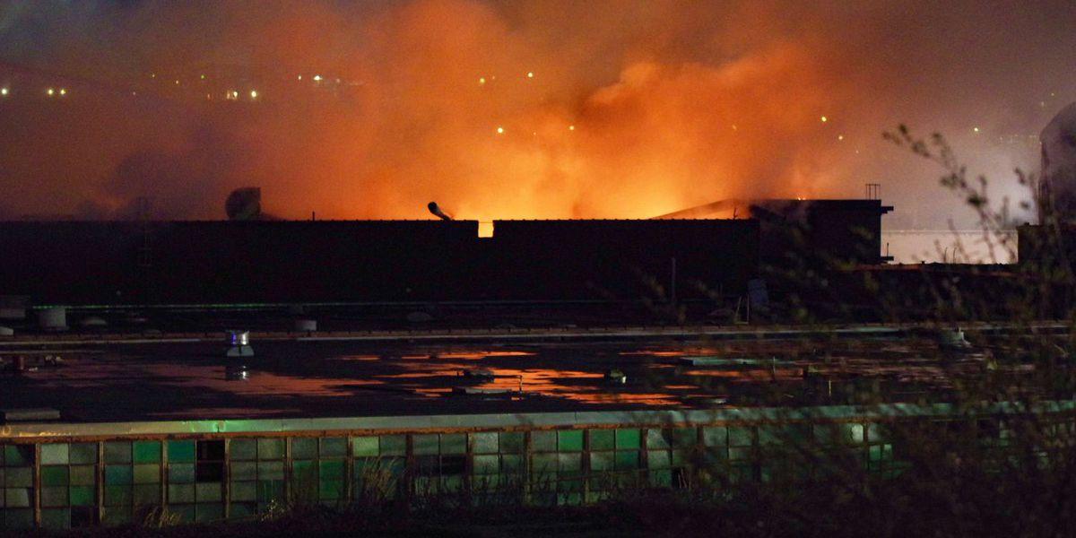 Investigators: Massive fire at old factory in Lenoir was sparked by torch
