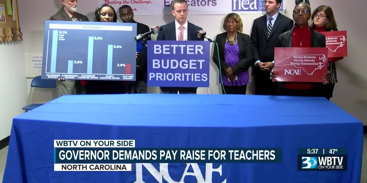 NC Governor demands pay raise for state teachers