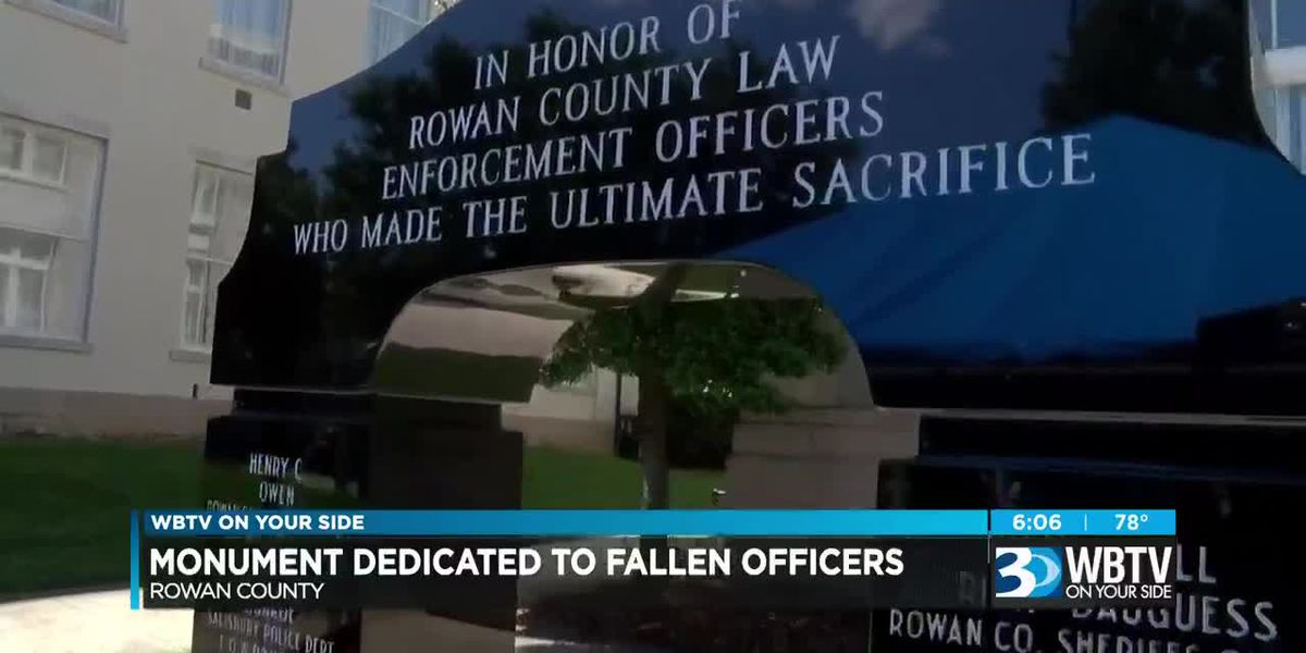 Monument to fallen law enforcement officers to be dedicated on Thursday