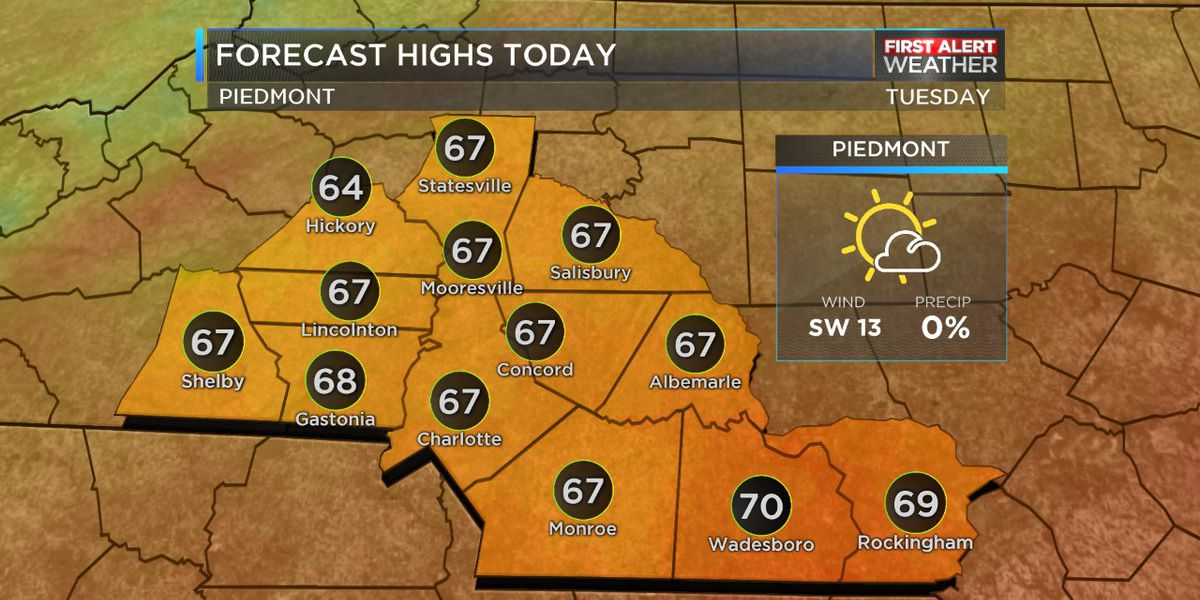 Temperatures will get progressively colder throughout the week