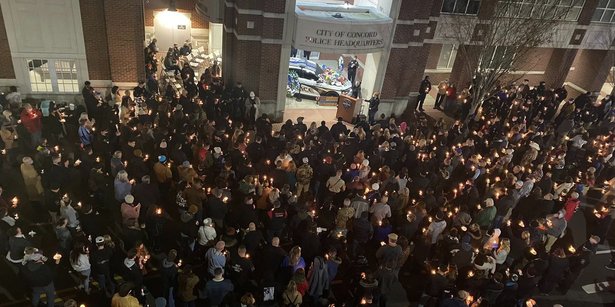 Candlelight vigil held to honor 25-year-old fallen Concord officer