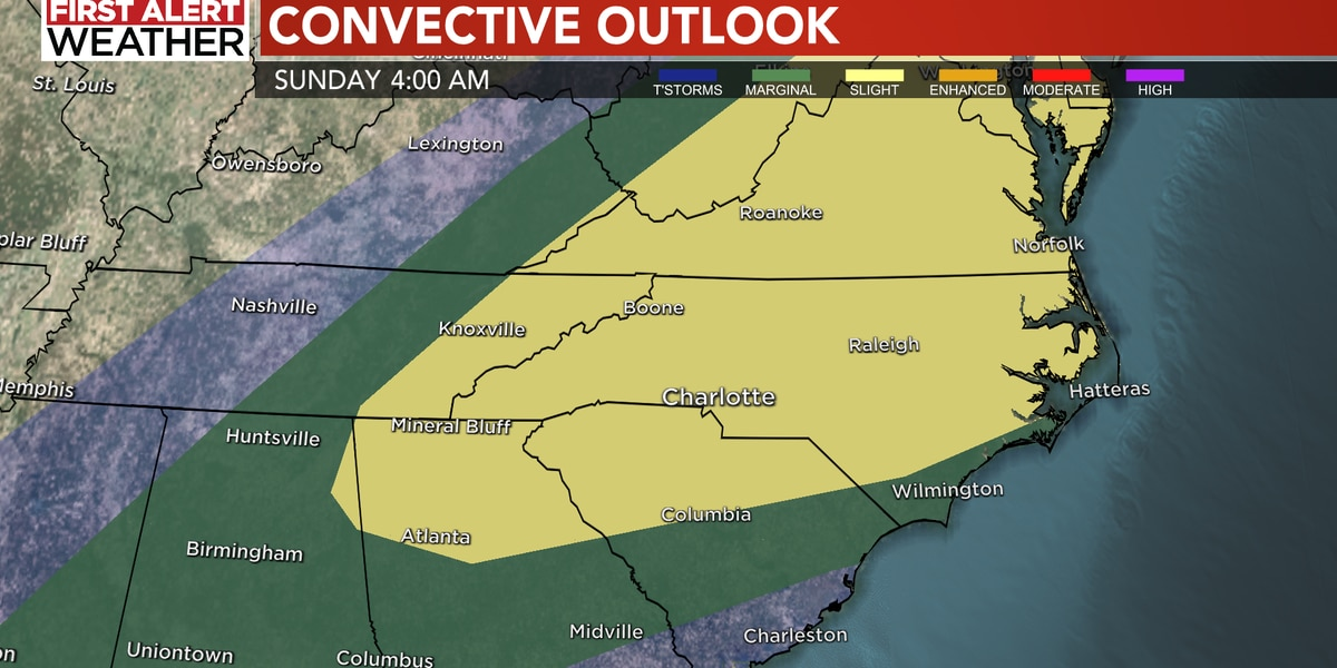 Storms bring strong winds, heavy downpours, hail into Charlotte area