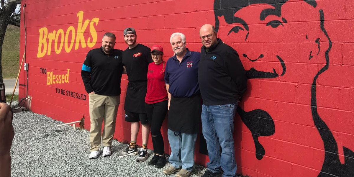 Panthers owner, new head coach show support for Brooks family, stop by Sandwich House in NoDa
