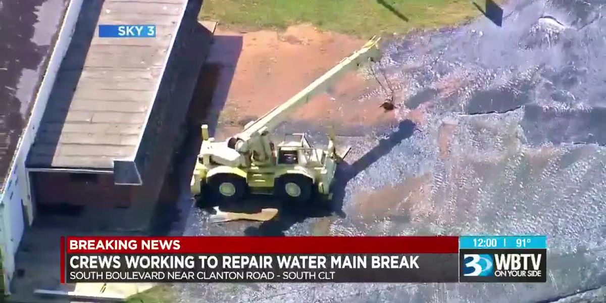 Water main break forces section of South Blvd to close