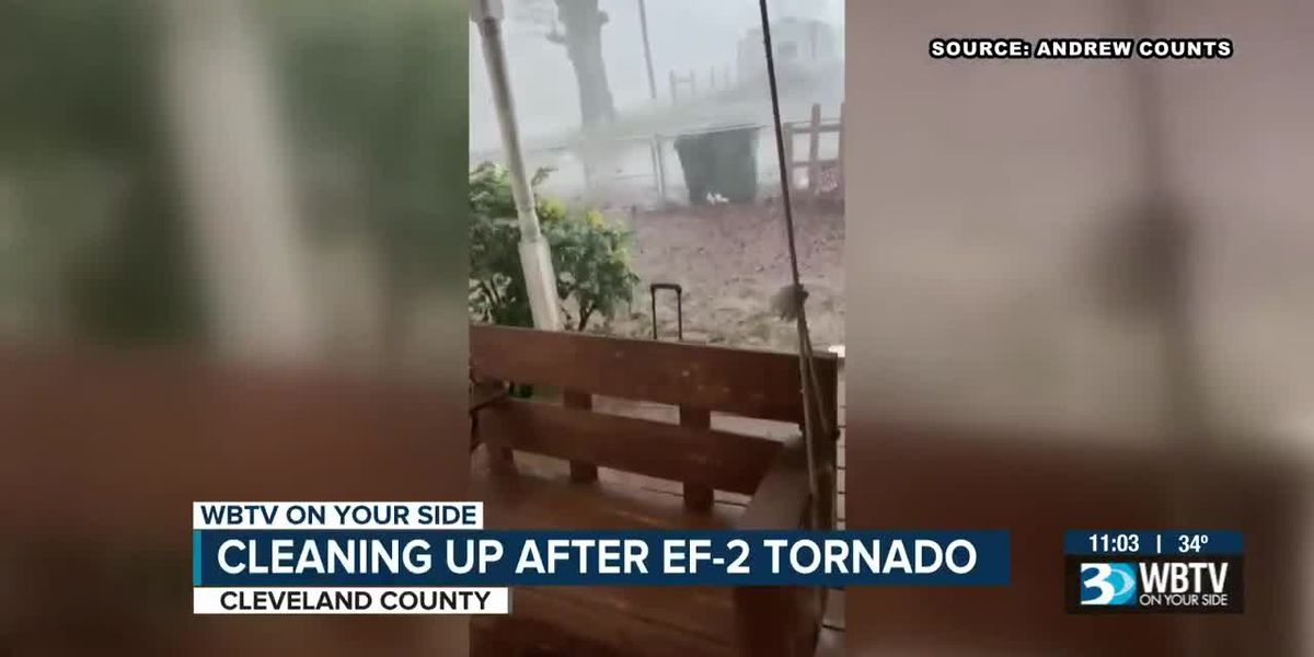 EF-2 tornado with 130 mph winds touched down in Cleveland, Gaston counties, NWS confirms