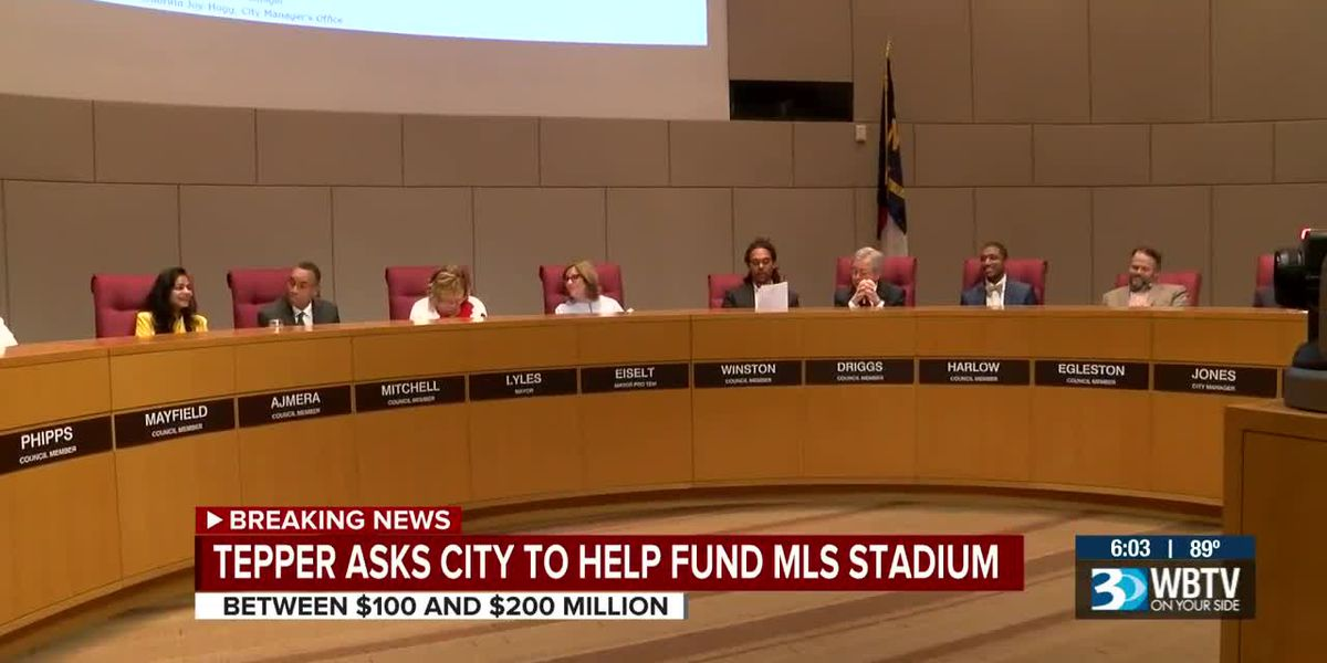 Tepper asks Charlotte City Council to fund MLS stadium