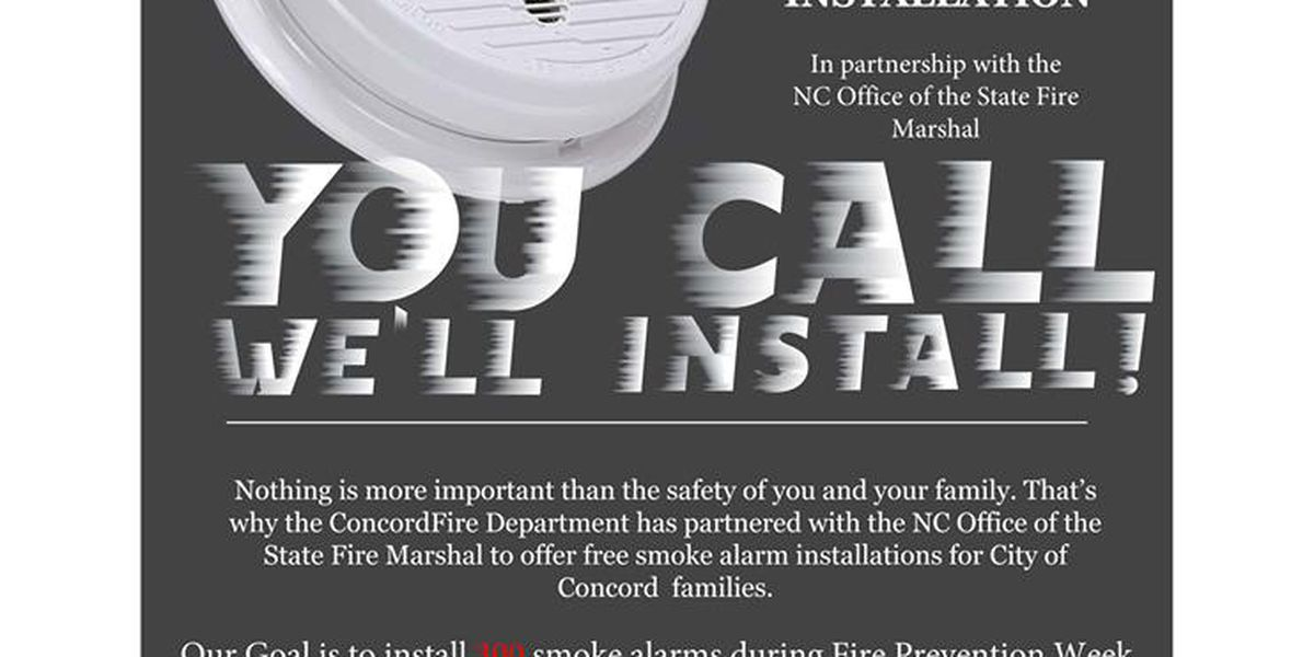 Concord Fire to install 300 free smoke alarms