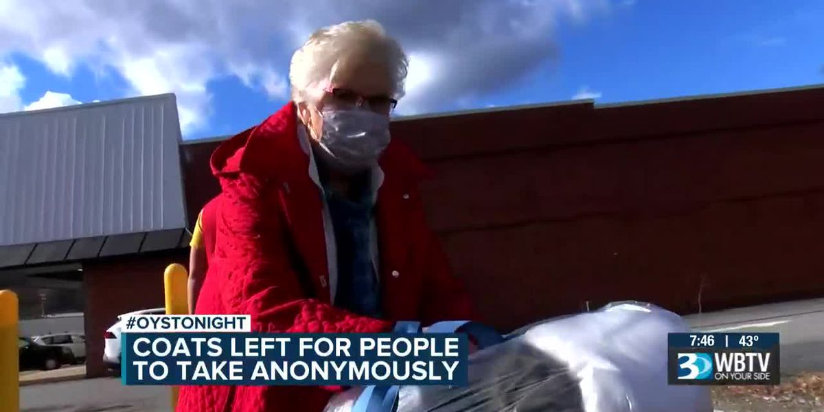 Coats left for people to take anonymously