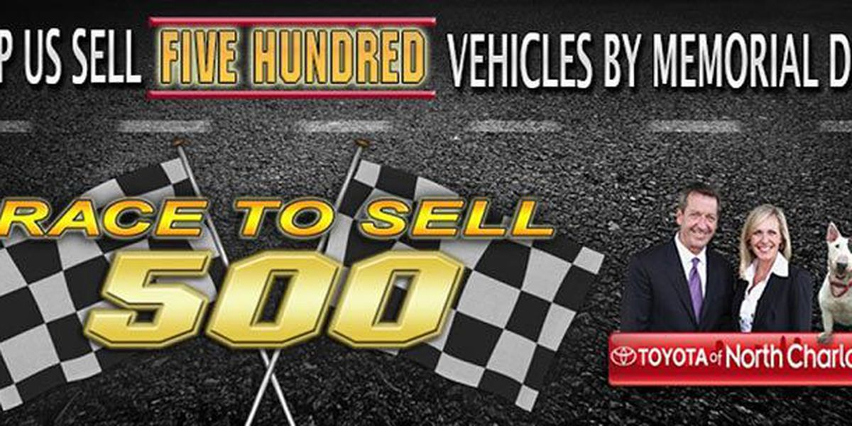 Race to 500 with Toyota of N Charlotte this month!