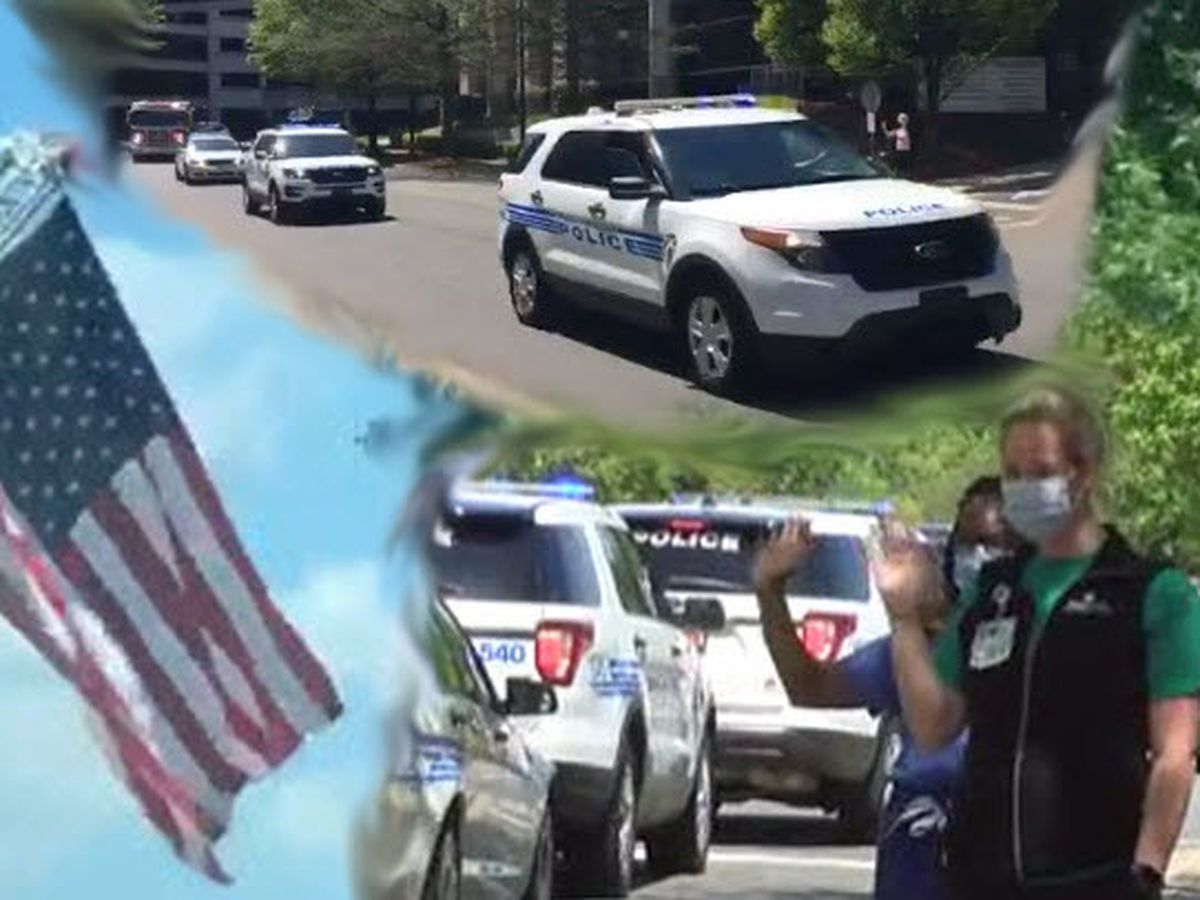 Parade of Lights: First responders show unity, support for healthcare workers in Charlotte