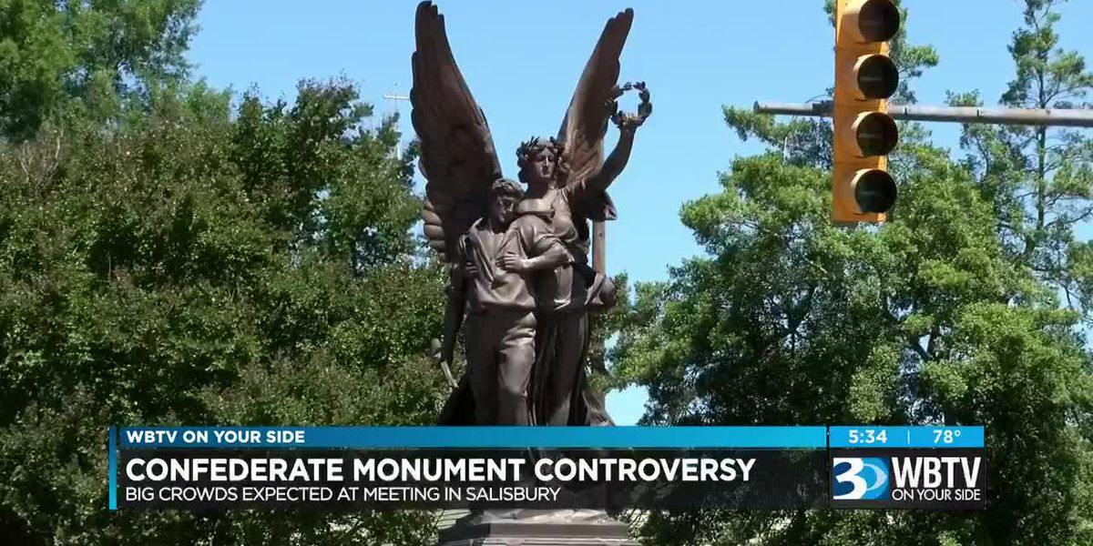 Big crowds expected at meeting over confederate monument in Salisbury