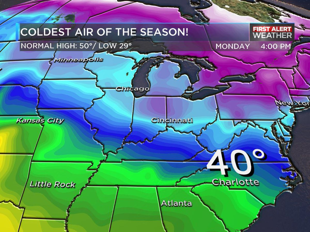 Wednesday marks the warmest day in nearly a week