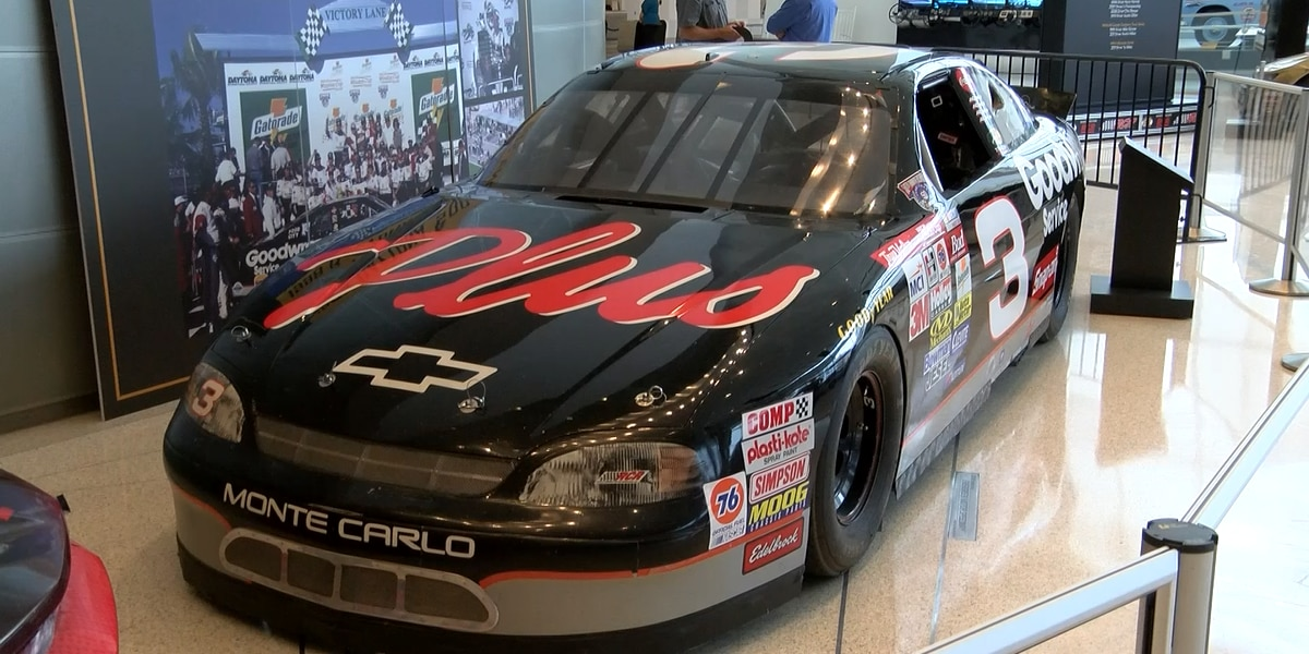 Rare Dale Earnhardt Dayton 500-winning car unveiled at NASCAR Hall of Fame