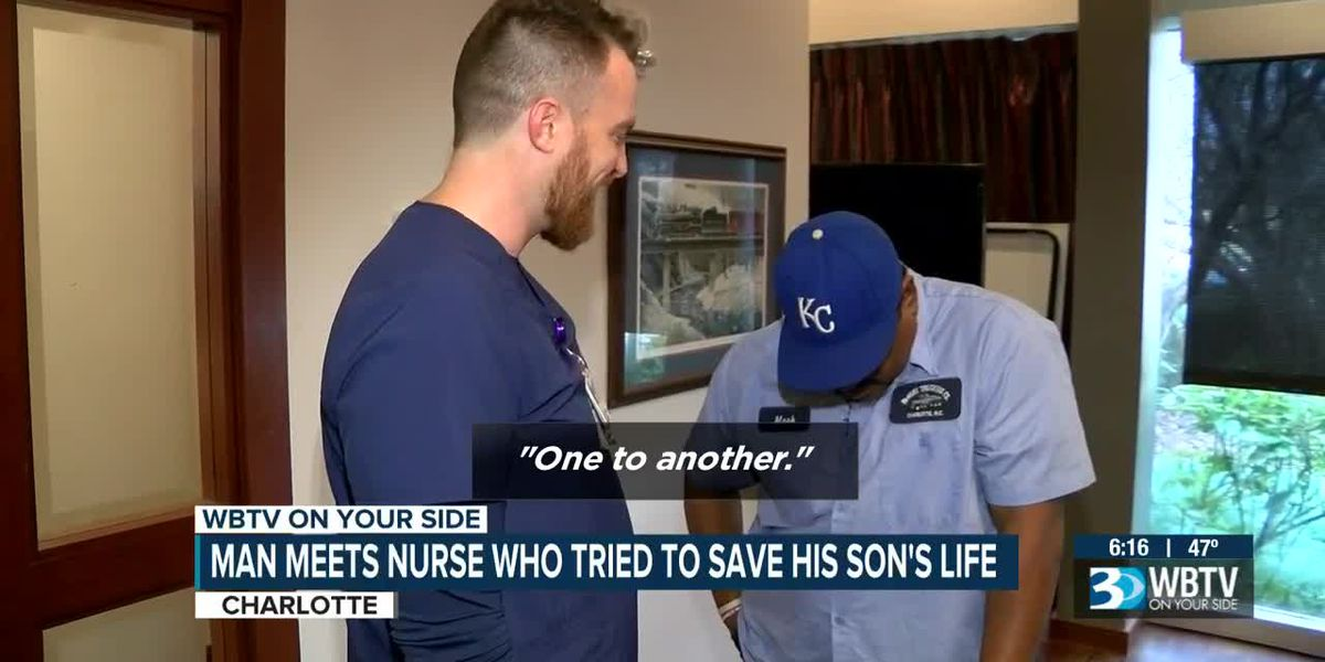 Father of murdered Charlotte man meets nurse who tried to save him