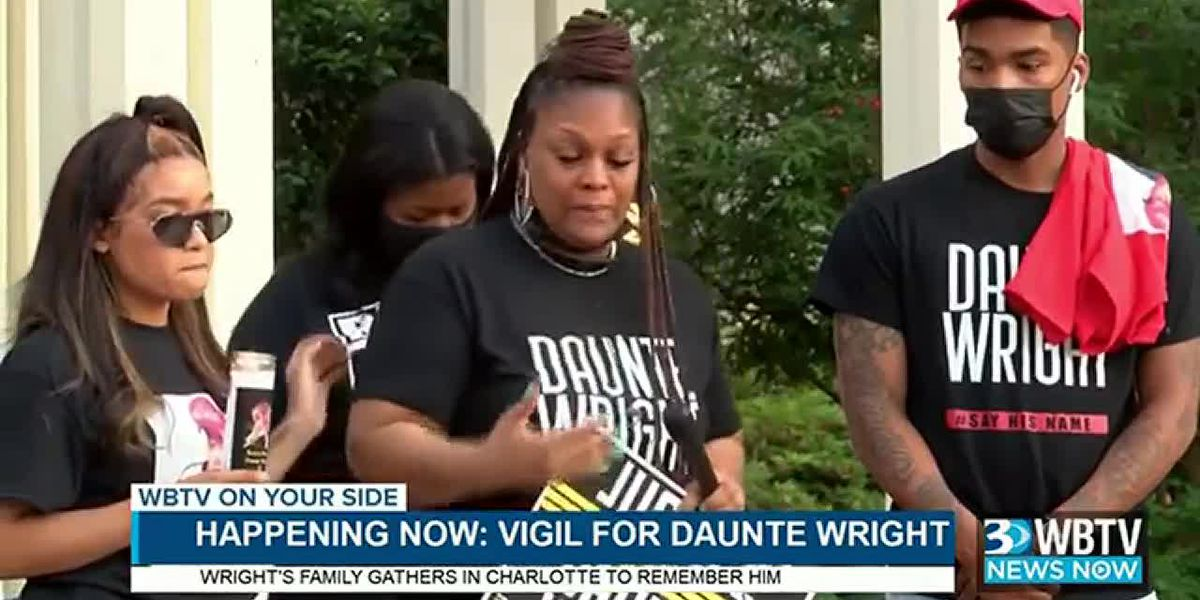 WBTV NEWS NOW: Family leads vigil in Charlotte for Daunte Wright, man killed by police in Minnesota