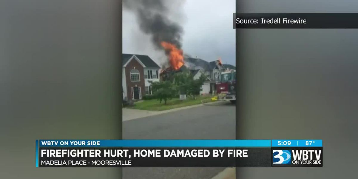 Mooresville residence sustains heavy damage in fire