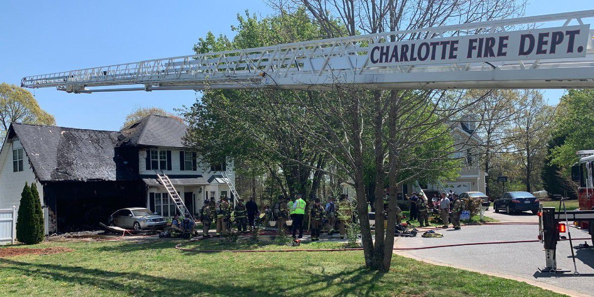 Person treated for medical emergency in Charlotte house fire