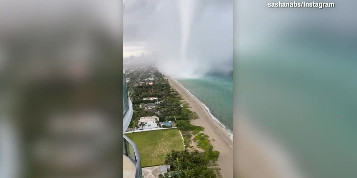 WATCH: Waterspout spotted on South Fla. coast
