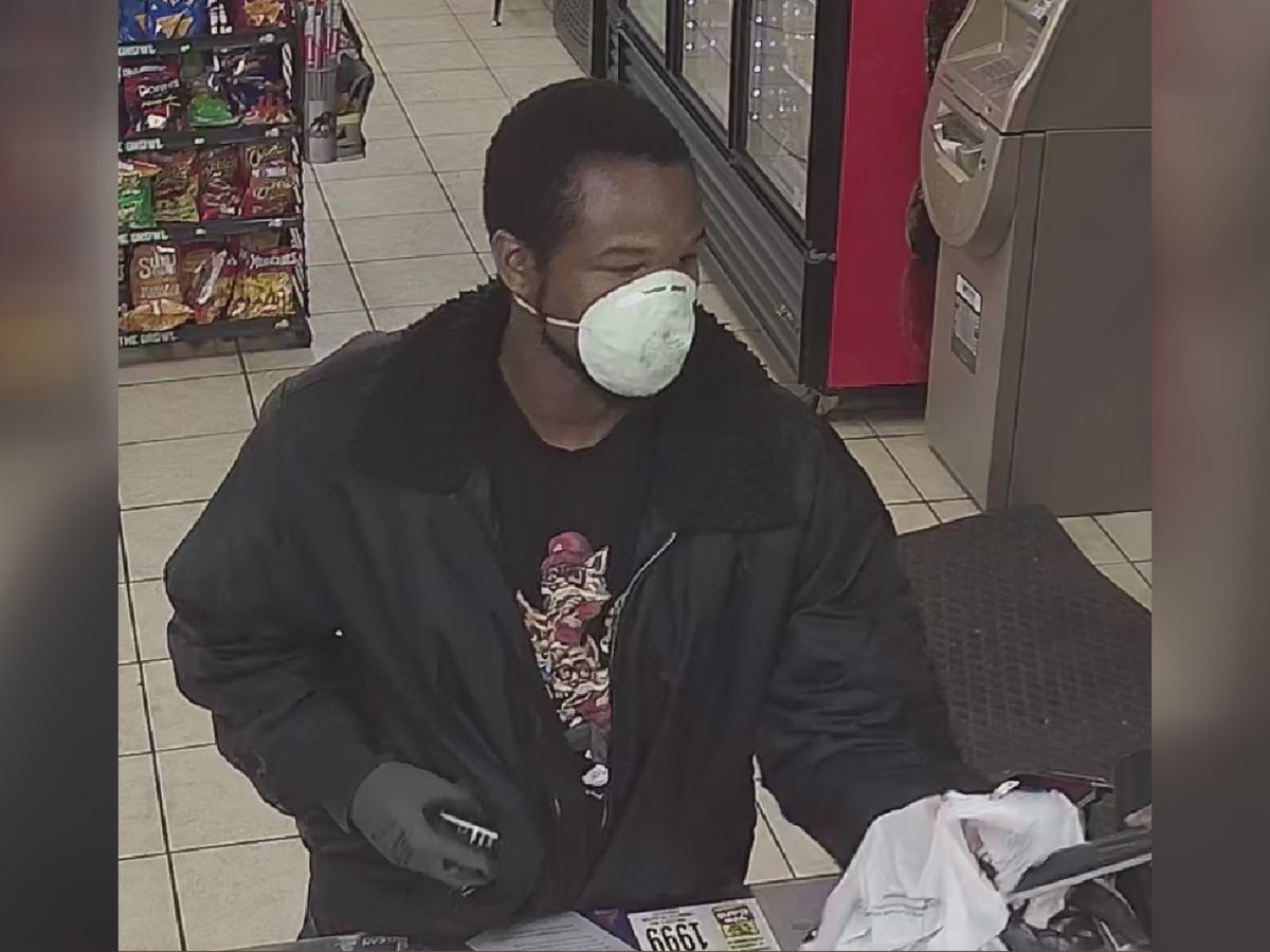 Clerk sprayed with paint during robbery in Gastonia, police searching for suspect