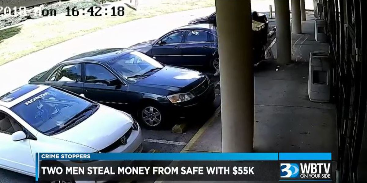 Crime Stoppers: Two men steal money from safe with $55,000