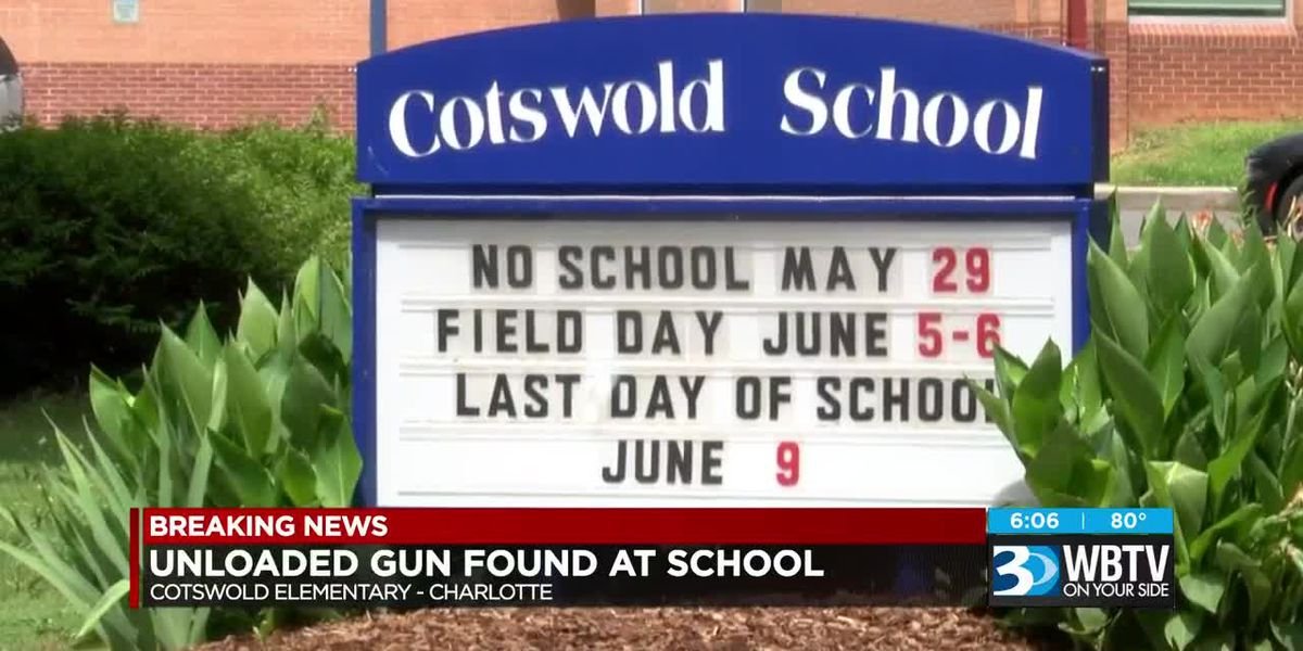 Gun found at Cotswold Elementary School in Charlotte