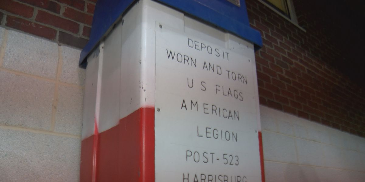 Harrisburg American Legion Post 523 asking flag owners to donate old, tattered American flags