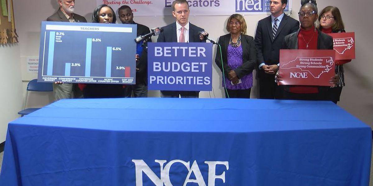 NC teachers back governor's choice to veto pay-raise bills