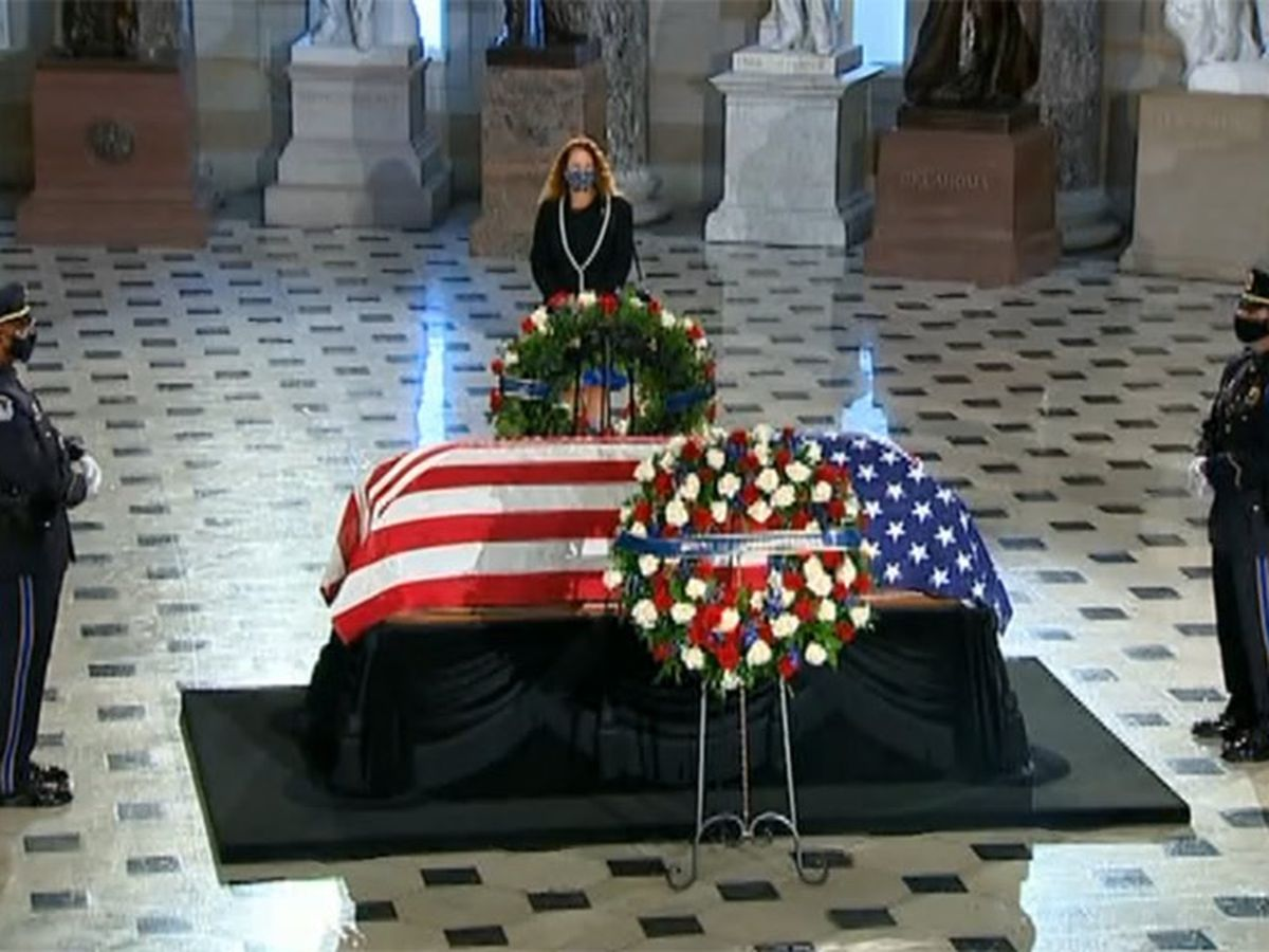Ginsburg makes history again, lying in state at Capitol