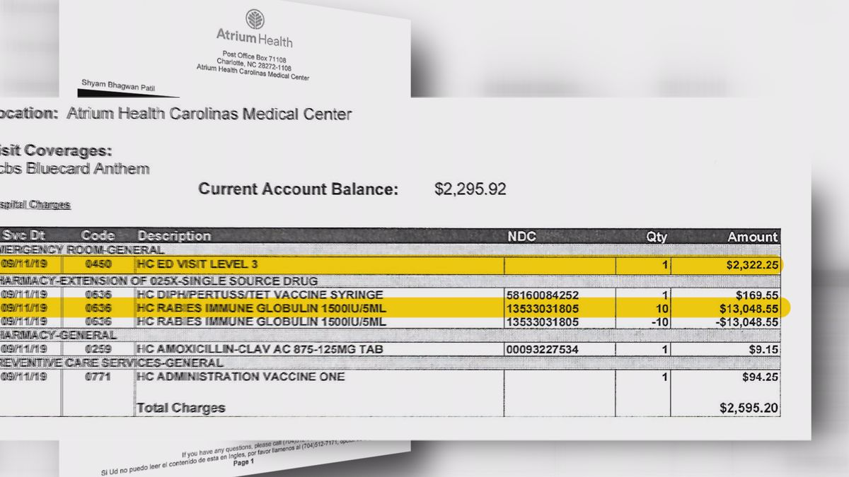 Charlotte man charged $2,300 for walking through ER doors for cat scratch