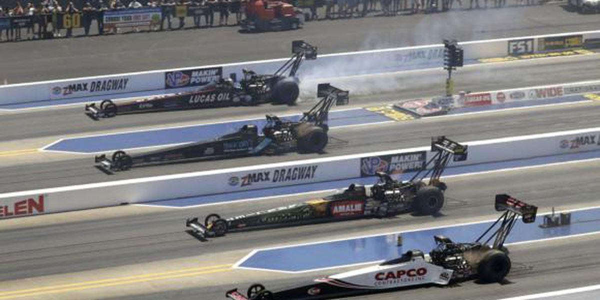 Capacity restrictions lifted for month of May motorsports events including NGK NTK NHRA Four-Wide Nationals this weekend and May 28-30 Coca-Cola 600 weekend