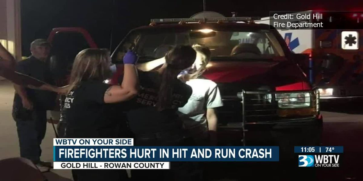 Firefighters hurt in hit-and-run crash