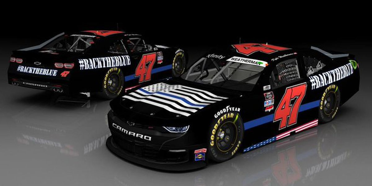 NASCAR team reveals pro-police 'Back The Blue' paint scheme to run at Homestead-Miami