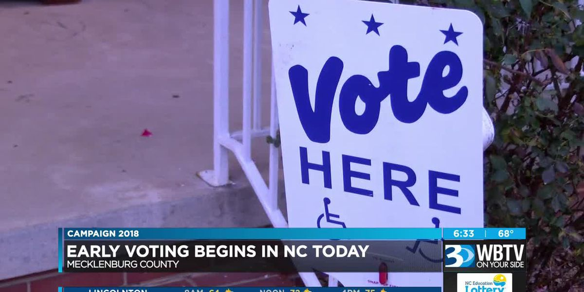 Early voting begins Wednesday in NC at one-stop sites