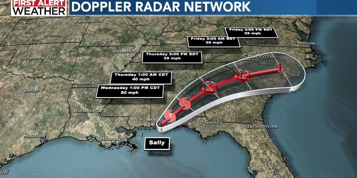 Remnants of Hurricane Sally to deliver torrential downpours to Charlotte area